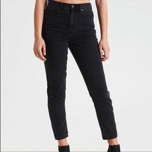 American eagle black hi rise vintage mom jeans 12L